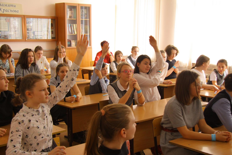 13 марта школьники Нижнего Новгорода узнали, как правильно помогать нуждающимся
